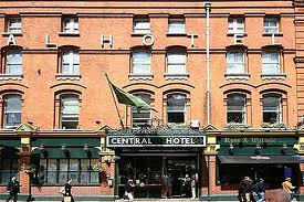 Front of Central Hotel Dublin - with enterprise graded hotel guest wifi